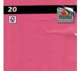 Fasano Papierové obrúsky farebné ružové 3 vrstvové 33 x 33 cm 20 kusov