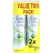Gillette Satin Care With Aloe Vera Sensitive Skin gél na holenie pre ženy 2 x 200 ml, duopack