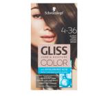Schwarzkopf Gliss Color farba na vlasy 4-36 Zlatistý hnedý 2 x 60 ml