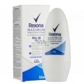 Rexona MaxPro Clean Scent antiperspirant dezodorant roll-on pre ženy 50 ml