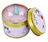 Bomb Cosmetics Rozprávky o jednorožcovi - Unicorn Tales Vonná prírodné, ručne vyrobená sviečka v plechovej dóze horí až 35 hodín