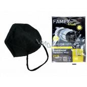 Famex Respirátor ústnej ochranný 5-vrstvový FFP2 tvárová maska čierna 1 kus