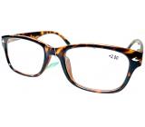Berkeley Čítacie dioptrické okuliare +2 plast hnedé tigrované 1 kus MC2197