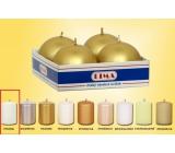 Lima Svíčka hladká metal bílá koule průměr 60 mm 4 kusy