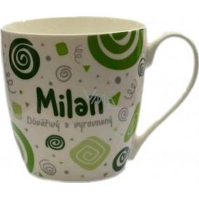 Nekupto Twister hrnek se jménem Milan zelený 0,4 litru