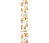Ditipo Vánoční balicí papír dětský bílý s medvídky 100 x 70 cm 2013912 2 kusy