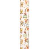 Ditipo Vánoční balicí papír pro děti bílý s medvídky 100 x 70 cm 2 kusy 2013912