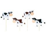 Zápich Strakatá kravička 7,5 cm + špajle 8721 9928