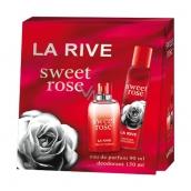 La Rive Sweet Rose toaletná voda pre ženy 90 ml + dezodorant sprej 150 ml, darčeková sada