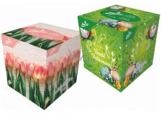 Linteo Soft & delicate Veľkonočné papierové vreckovky biele 2 vrstvové 80 kusov