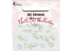 Absolute Cosmetics Nail Art 3D nálepky na nechty 10100-3 1 aršík