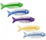 Sum-Plast Guma Ryba kostra s vôňou vanilky hračka pre psov viac farieb 16 cm