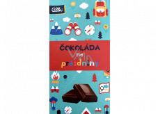 Albi Akčný mliečna čokoláda na prázdniny 50 g 13,5 x 7,2 cm