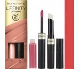 Max Factor Lipfinity Lip Colour rtěnka a lesk 142 Evermore Radiant 2,3 ml a 1,9 g