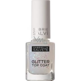 Gabriella salva Glitter Top Coat krycí lak na nechty 17 Transparent 11 ml