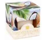 Heart & Home Kokosové pohlazení Sojová svíčka bez obalu hoří až 15 hodin 53 g