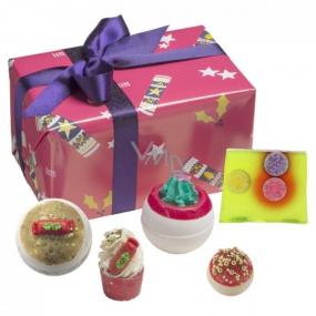 Bomb Cosmetics Těším se na dárky balistik 2x160 g + špalíček 50 g + kulička 30 g + mýdlo 100 g, kosmetická sada