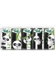 Tento Kids Panda hygienické vreckovky z čistej celulózy 3 vrstvové 10 x 10 kusov