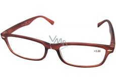 Berkeley Čítacie dioptrické okuliare +3,0 hnedé mat 1 kus MC2 ER4040