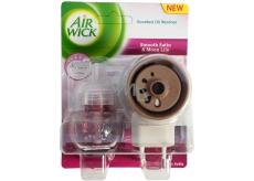 Air Wick Smooth Satin & Moon Lily - Jemný satén a mesačné ľalie elektrický osviežovač vzduchu komplet 19 ml