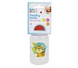 First Steps Safari dojčenská fľaša 0+ Gepard oranžový 150 ml