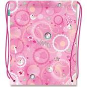 Nekupto Miss Cool Športová taška Labuť Oslnivá kráska 41 x 33,5 cm