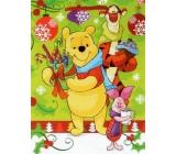 Nekupto Darčeková papierová taška strednej 23 x 18 x 10 cm Medvedík Pú, vianočné 1187 WLGM