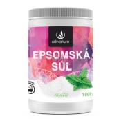 Allnature Epsomská soľ Mäta pre uvoľnenie svalov a detoxikáciu 1000 g