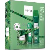 C-Thru Luminous Emerald toaletná voda pre ženy 30 ml + dezodorant sprej 150 ml + vonná sviečka, darčeková sada