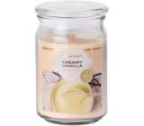 Emóciám Creamy Vanilla - Krémová vanilka vonná sviečka sklo so skleneným vrchnákom 93 x 142 mm