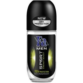Fa Men Sport Double Power Power Boost guličkový dezodorant roll-on pre mužov 50 ml