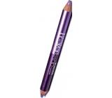 Princessa Davis Eye Double Colour očné tiene v ceruzke 011 Fialová s trblietkami 6 g