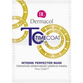 Dermacol Time Coat Face Mask intenzivně zdokonalující pleťová maska 2 x 8 ml