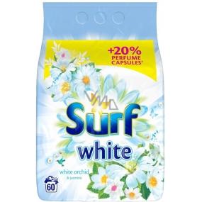 Surf White Orchid & Jasmine prášok na pranie bielej bielizne 60 dávok 3,9 kg