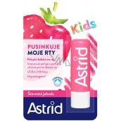 Astrid Kids Šťavnatá jahoda ošetrujúce balzam na pery 4,8 g