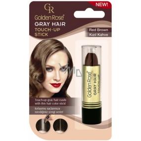 Golden Rose Gray Hair Touch-Up Stick farbiaci korektor na odrastené a šedivé vlasy 04 Red Brown 5,2 g