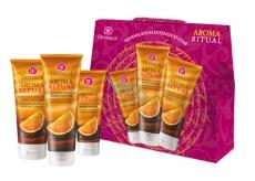 Dermacol Aroma Ritual Belgická čokoláda sprchový gel 250 ml + tělové mléko 250 ml + krém na ruce 75 ml, kosmetická sada