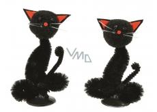 Kočka černá na postavení 7 cm, 2 kusů v krabičce