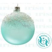 Irisa Banky sklenené mentolové, pocukrované, sada 7 cm 12 kusov