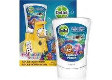 Dettol Kids Zoo Dobrodruh bezdotykový dávkovač mydla žltý + náplň 250 ml