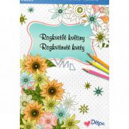 Ditipo Calm Rozkvitnuté kvety maľovanky 16 listov