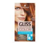 Schwarzkopf Gliss Color farba na vlasy 7-7 Medený tmavo plavý 2 x 60 ml