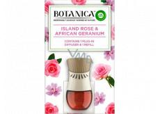 Air Wick Botanica Exotická ruže a africká pelargónie elektrický osviežovač komplet 19 ml
