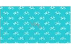 Apli Darčekový baliaci papier 70 x 200 cm Nordik Fun Pastel modrý - kolesá