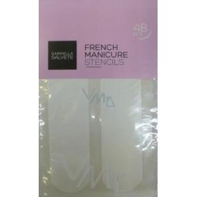 Gabriella salva French Manicure Stencils šablóny na francúzsku manikúru 48 kusov