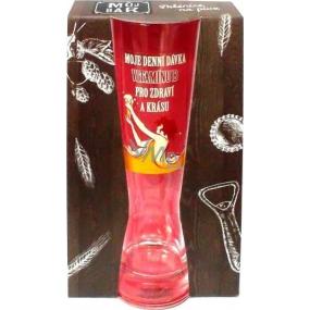 Albi Môj Bar Dámska poháre na pivo Moje denná dávka vitamínu B 400 ml