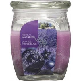 Bolsius Aromatic French Lavender - Francúzska Levanduľa vonná sviečka v skle 92 x 120 mm 830 g, doba horenia 100 hodín