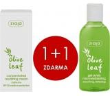 Ziaja Olivové listy gelový peeling 200 ml + SPF 20 vyživující koncentrovaný krém 50 ml, duopack