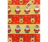Nekupto Darčeková papierová taška najväčšie 46 x 33 x 10,5 cm Vianočné, hologram 035 30 GXL