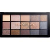 Makeup Revolution Re-Loaded paletka očných tieňov Smoky Newtrals 15 x 1,1 g